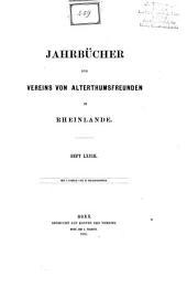 Bonner Jahrbücher: Bände 68-71