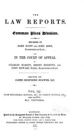 The Law Reports: Court of Exchequer, Volume 3