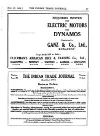 The Indian Trade Journal