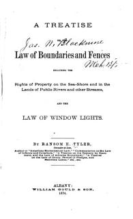 A Treatise on the Law of Boundaries and Fences Book