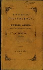 Ticonderoga, of Zwarte Arend: historiesch-romantiesch verhaal, Volume 1