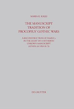 The Manuscript Tradition of Procopius  Gothic Wars PDF