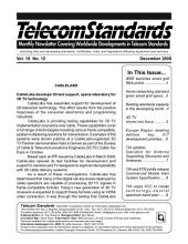Telecom Standards Monthly Newsletter December 2009