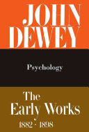 The Early Works  1882 1898  1887  Psychology PDF