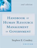 Handbook of Human Resources Management in Government PDF
