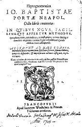 Phytognomonica Io. Baptistae Portae...