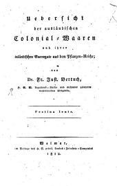 Uebersicht der ausländischen Colonial-Waaren