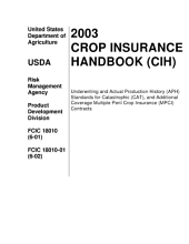 2003 Crop Insurance Handbook (CIH)