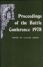 Proceedings of the Battle Conference on Anglo-Norman Studies, III, 1980