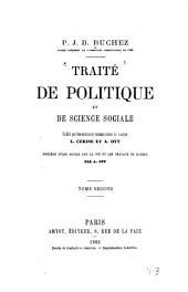 Traité de politique et de science sociale: Volume1