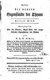 Ueber die neuern Gegenstände der Chymie: Vorzüglich über die Glucine, Agust-Erde und einige besondre Eigenschaften des Goldes. 11