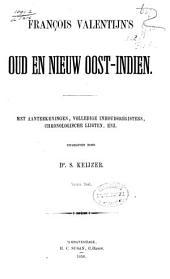 François Valentijn's oud en nieuw Oost-Indien: Volume 1