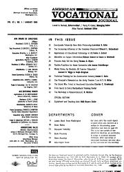 American Vocational Journal PDF
