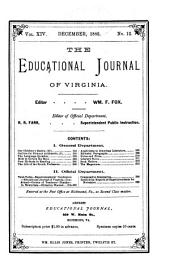 The Educational Journal of Virginia: Volumes 13-14