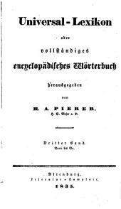 Universal-lexikon, oder Vollständiges encyclopädisches wörterbuch: Band 3