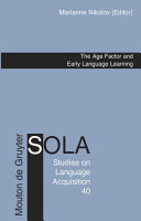 The Age Factor and Early Language Learning PDF