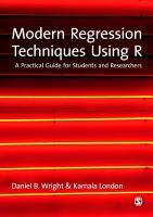 Modern Regression Techniques Using R PDF