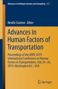 Advances in Human Factors of Transportation PDF