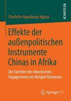 Effekte der au  enpolitischen Instrumente Chinas in Afrika PDF