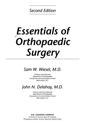 Essentials of Orthopaedic Surgery