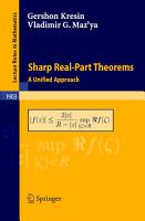 Sharp Real Part Theorems PDF