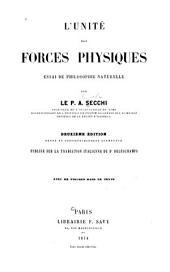 L'Unité des forces physiques: essai de philosophie naturelle