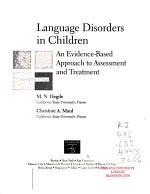 Language Disorders in Children PDF