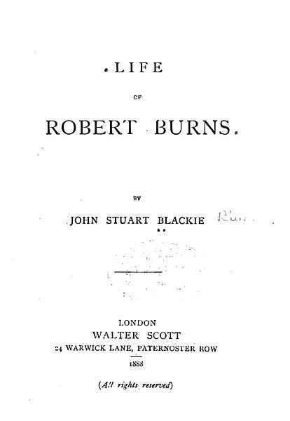 Download Life of Robert Burns Book