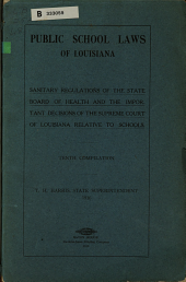 Public school laws of Louisiana