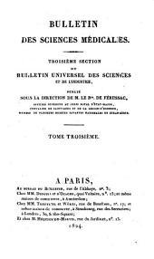 Bulletin des sciences médicales: troisième section du Bulletin universel des sciences et de l'industrie, Volume3