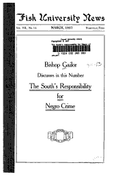 The South's Responsibility for Negro Crime