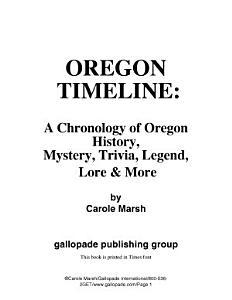 Oregon Timeline Book