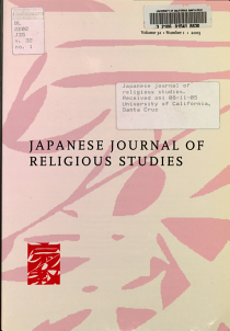 Japanese Journal of Religious Studies PDF