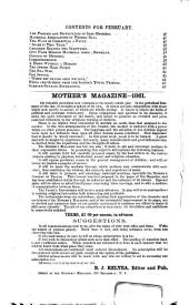 The Mother's Magazine and Family Circle: Volume 29, Issue 2