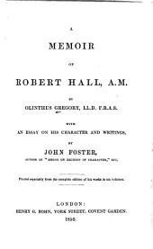 A Memoir of Robert Hall