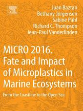 MICRO 2016: Fate and Impact of Microplastics in Marine Ecosystems: From the Coastline to the Open Sea