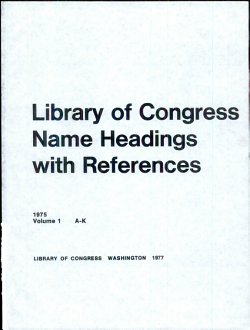 Library of Congress Name Headings with References PDF