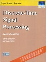 Discrete Time Signal Processing PDF