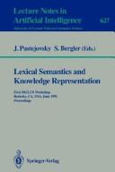 Lexical Semantics and Knowledge Representation