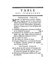 Les elements de la médecine-pratique: tirés des écrits d'Hippocrate et de quelques autres médecins anciens et modernes ; ou l'on traite des maladies les plus ordinaires à chaque age, dans les différentes saisons de l'année, selon les différentes constitutions de l'air, sous divers climats, & en particulier sous celui de Bésiers ; avec des remarques ... pour servir de prodrome à une histoire générale des maladies, Volume1