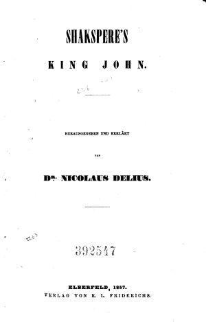 Histories  King John  King Richard II  King Henry IV  Part 1  King Henry IV  Part 2  King Henry V