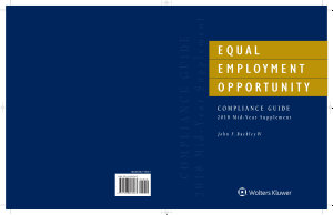 Equal Employment Opportunity Compliance Guide 2018 Mid Year Supplement  IL  PDF