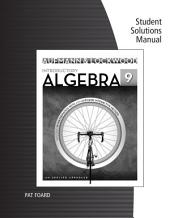 Student Solutions Manual for Aufmann/Lockwood's Introductory Algebra: An Applied Approach, 9th: Edition 9