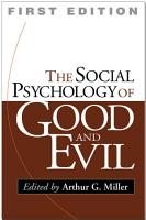 The Social Psychology of Good and Evil PDF