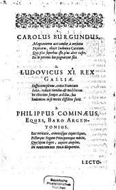 Commemorationes rerum gestarum Ludovici 11: libri octo