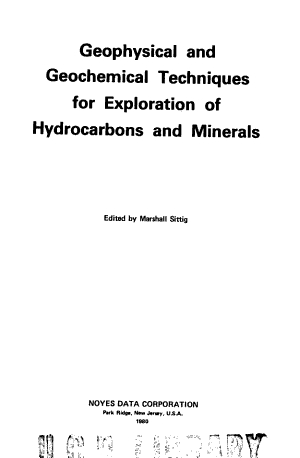 Geophysical and Geochemical Techniques for Exploration of Hydrocarbons and Minerals PDF