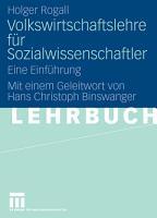 Volkswirtschaftslehre f  r Sozialwissenschaftler PDF