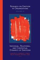 Individual  Relational  and Contextual Dynamics of Emotions PDF