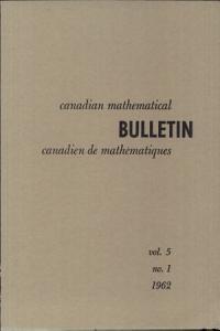 Canadian Mathematical Bulletin PDF