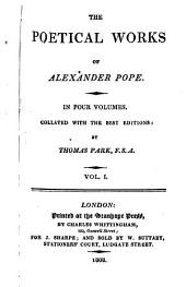 The poetical works of Alexander Pope: In four volumes. Collated with the best editions:, Volumes 1-2